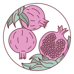 Ilustración de granadas de frutas