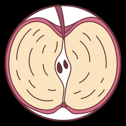 Fruit sliced apple illustration