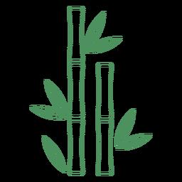 Traço de planta de bambu de grama