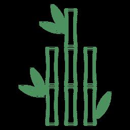 Gras Bambus kurzer Pflanzenhub