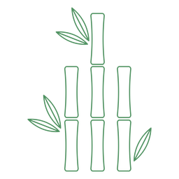 Grass bamboo short plant stroke