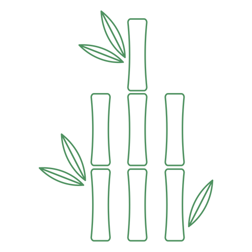 Grass bamboo short plant stroke Transparent PNG