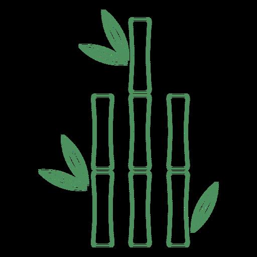 Trazo de planta corta de bambú de hierba