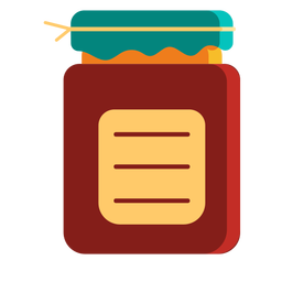 Tarro recipiente salsa plano