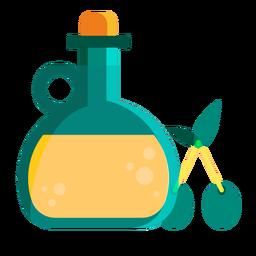 Aceite de oliva plano