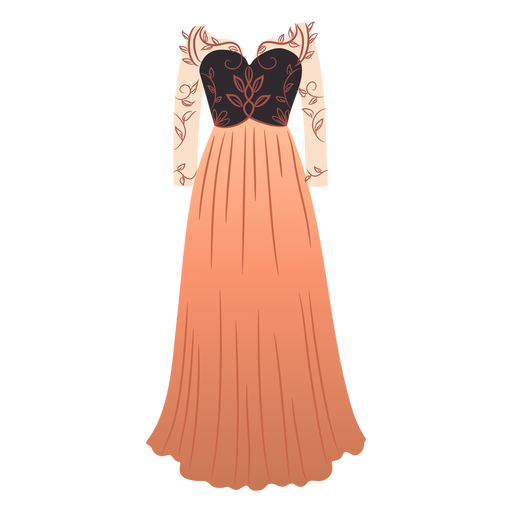 Outfit female patterned dress illustration