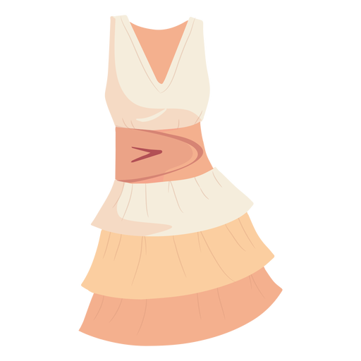 Outfit female pleated dress illustration