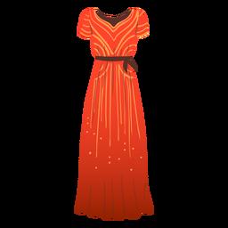 Ilustração de vestido longo feminino