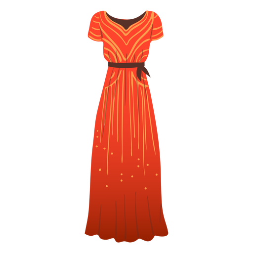 Outfit long female dress illustration