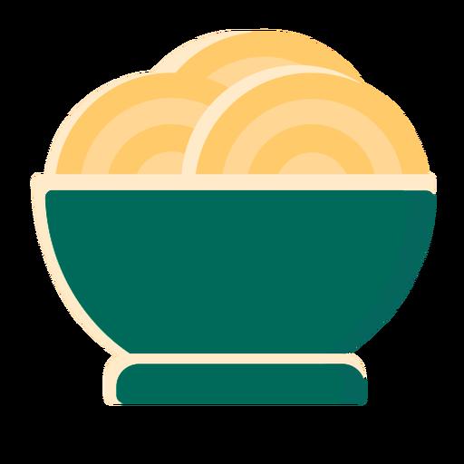 Plato de pasta espagueti plano