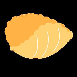 Pasta conchiglie rigate shell flat