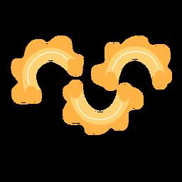 Pasta macarrones comida plana