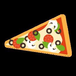 Pizza slice mushroom pepperoni flat