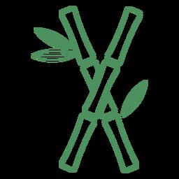 Pflanzen Sie Bambus-Kreuzstielhub