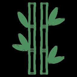 Planta de bambú trazo de madera verde