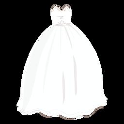 Ilustración de novia de vestido de novia de princesa