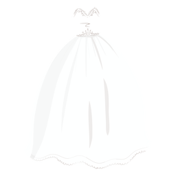 Princess wedding dress bride illustration