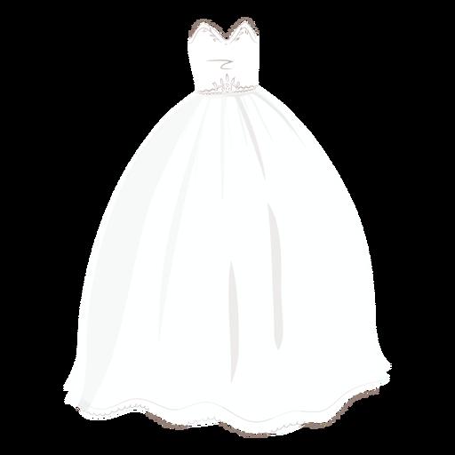 Princess wedding dress bride illustration