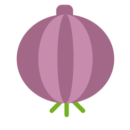 Cebola roxa plana