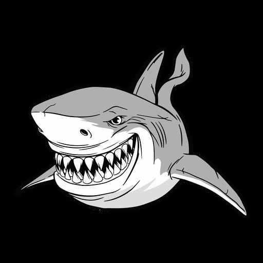 Ilustración de animales acuáticos de tiburón Transparent PNG