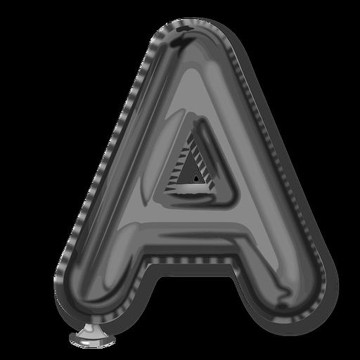 Alfabeto de globo letra de plata a