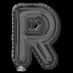 Silver letter balloon alphabet r
