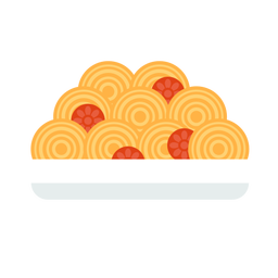 Spaguetti comida plana