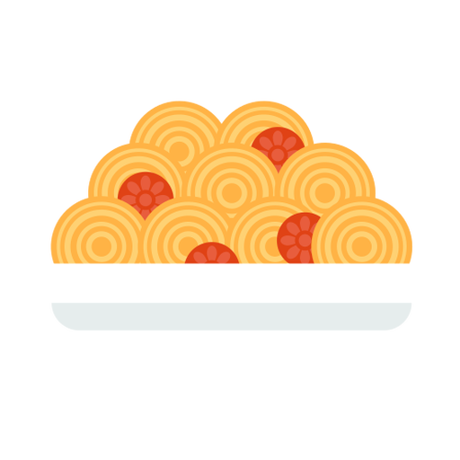 Spaguetti pasta food flat Transparent PNG