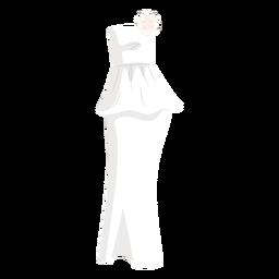 Ilustración de novia vestido de novia sin tirantes