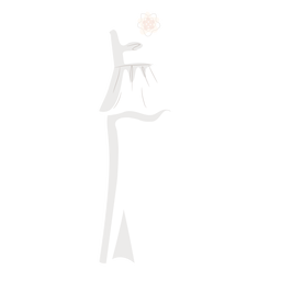 Strapless wedding dress bride illustration