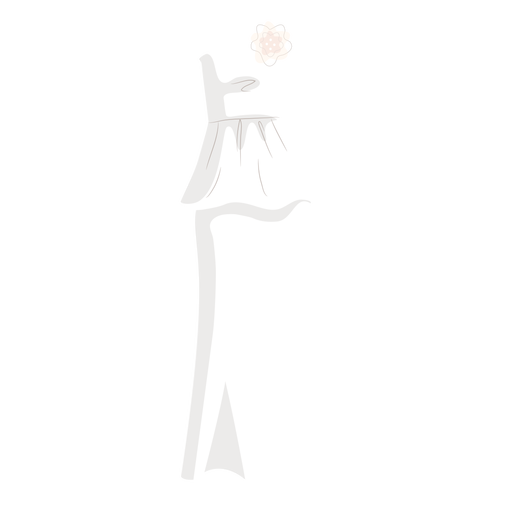 Strapless wedding dress bride illustration