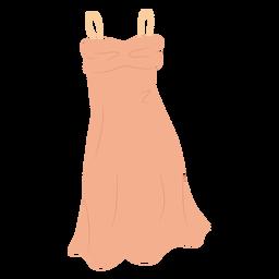 Ilustración de ropa de vestido de resbalón de estilo