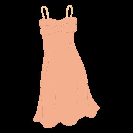 Style slip dress clothing illustration