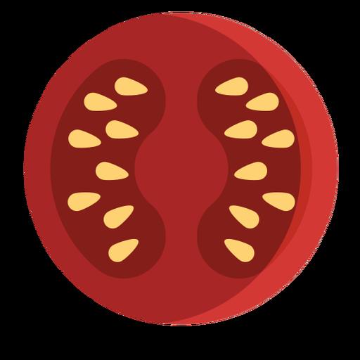 Tomato sliced flat