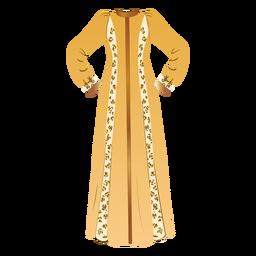 Ilustración de ropa árabe tradicional