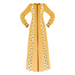Traditional arabic clothing illustration