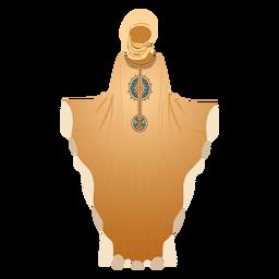Ilustración de hijab de vestido árabe tradicional