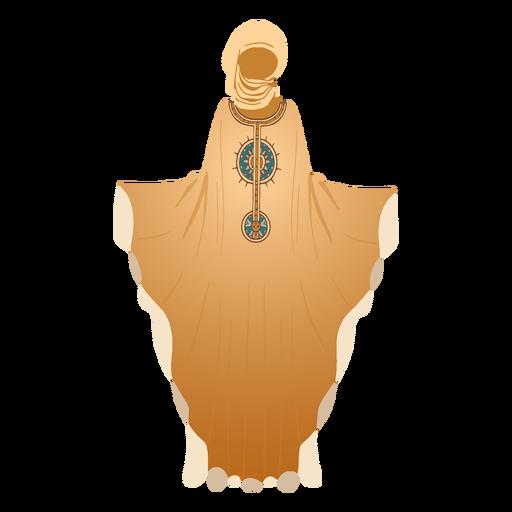 Traditional arabic dress hijab illustration