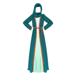 Traditional arabic dress illustration traditional dress
