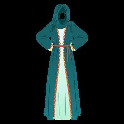 Vestido tradicional árabe ilustración vestido tradicional