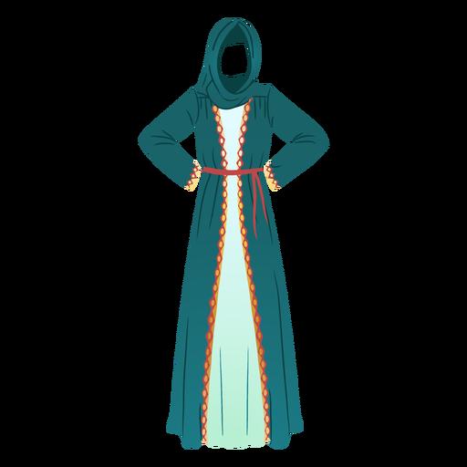Traditional arabic dress illustration traditional dress