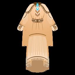 Ilustração de roupas tradicionais nativas americanas