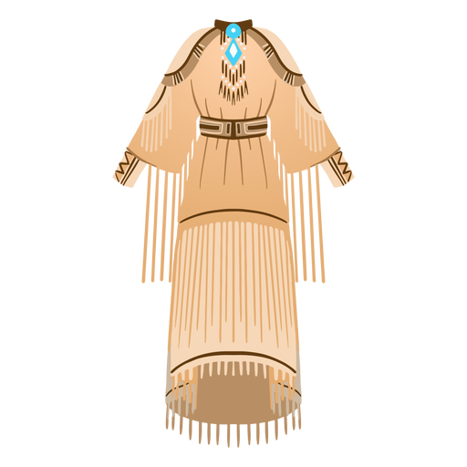 Ilustración de ropa tradicional nativa americana