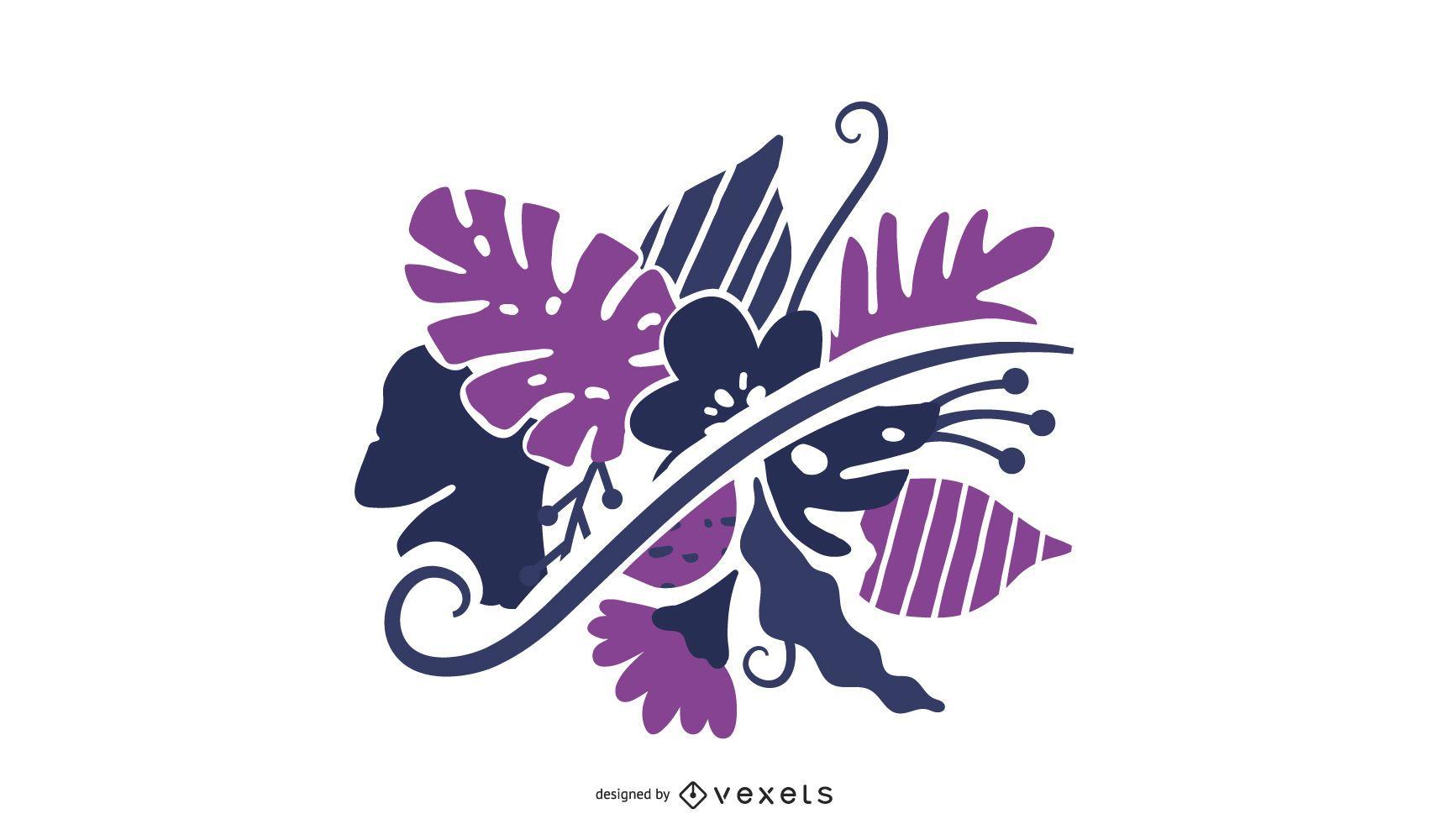 Swirl Floral Vector