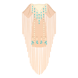 Ilustración de vestido tradicional nativo americano