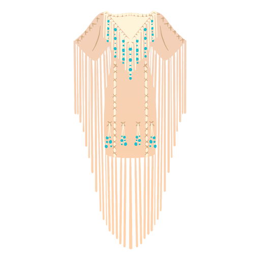 Traditional native american dress illustration Transparent PNG