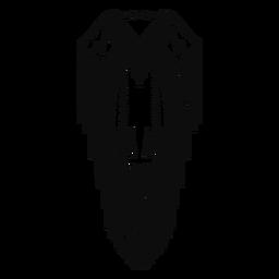 Trazo de vestido tradicional nativo americano