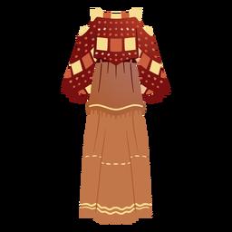 Ilustración de traje tradicional nativo americano