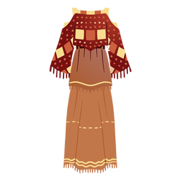 Traditional native american outfit illustration