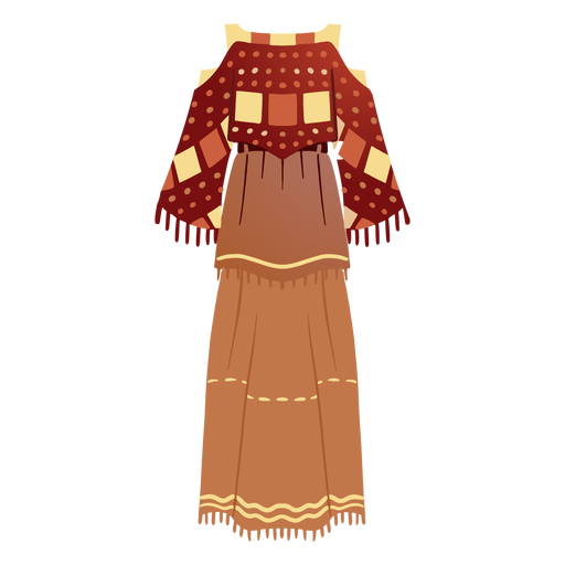 Traditional native american outfit illustration Transparent PNG